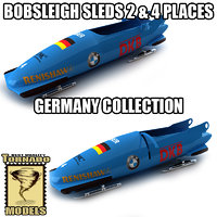 3dsmax bobsleigh sled - germany