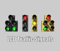 C4D LCD Traffic Signal