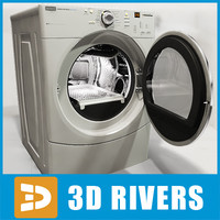 3d simple white dryer