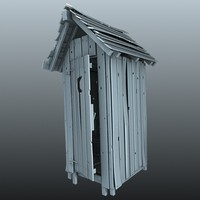 outhouse house 3d model