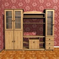 sideboard room 3d 3ds