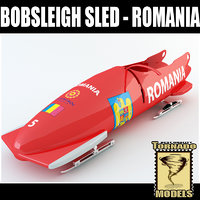 3d bobsleigh sled - romania model