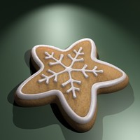3d christmas cookie model