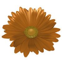 3d daisy flower