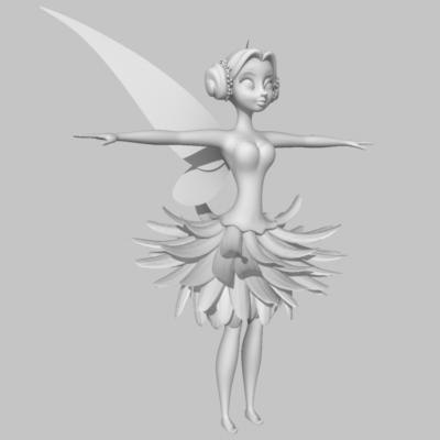 chrysanthemum fairy expressions 3d max - Chrysanthemum Fairy with Expressions... by HeidyCurbelo