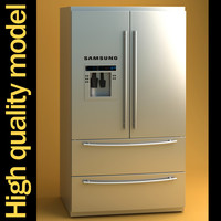 samsung fridge kitchen 3d max