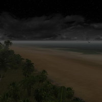 night light beach 3d model