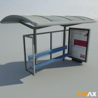 3d studio bus stop