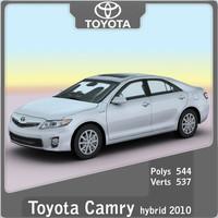 2010 toyota camry hybrid 3d model
