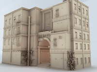 old house 3d lwo