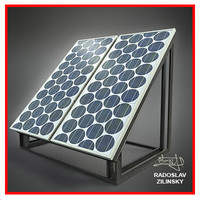 SOLAR panel small 03 (HIGH detail)