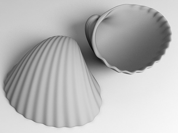 3d max ark cockle seashell - Ark Shell 2... by zbignev
