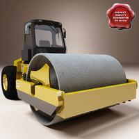3d model asphalt compactor hyundai