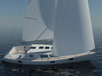 sail yacht 3d 3ds