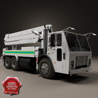 concrete pump truck mack 3ds