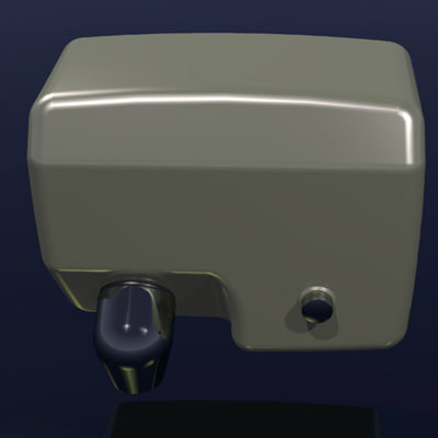 washroom clean wash 3d 3ds - Hand-Dryer-01.3dm.zip... by HMZ3D