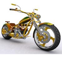 3d moticleta four-cylinder model