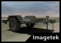 military hmmwv towable trailer 3d model