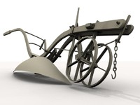 antique plow 3d ma