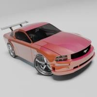 car sports 3d max