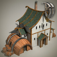3d max fantasy tavern