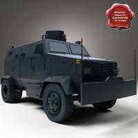 truck tanqueta 3d model