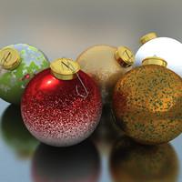 3d model of christmas ball
