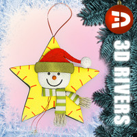 Christmas tree decoration snowman by 3DRivers