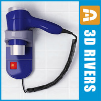 Electric wall mounted hairdryer by 3Drivers