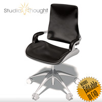 office chair interstuhl 3d 3ds