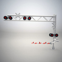 3ds railroad crossing gate