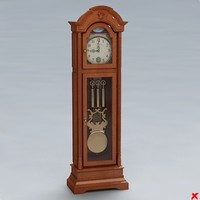 clock grandfather 3d max