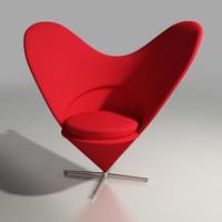 3dsmax panton heart chair design