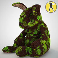 plush rabbit toy 3d model