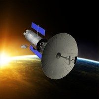 3d space satellite