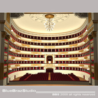 opera theatre la scala 3d model