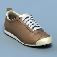 Sports shoes #04 brown white