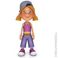 dxf girl cartoon