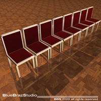 3d velvet chairs model