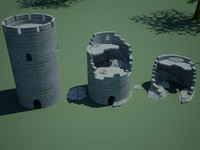 watchtower tower 3d model
