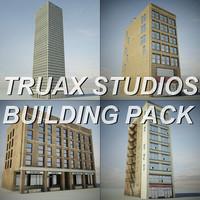 studios building pack 3d model
