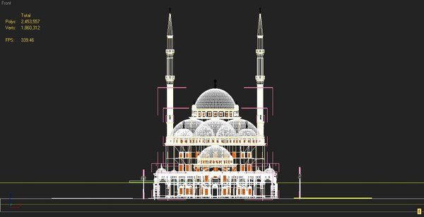 3ds max mosque mohammed ali - The Mosque Of Mohammed Ali... by M.Nabil