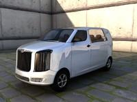 bus minibus 3d model