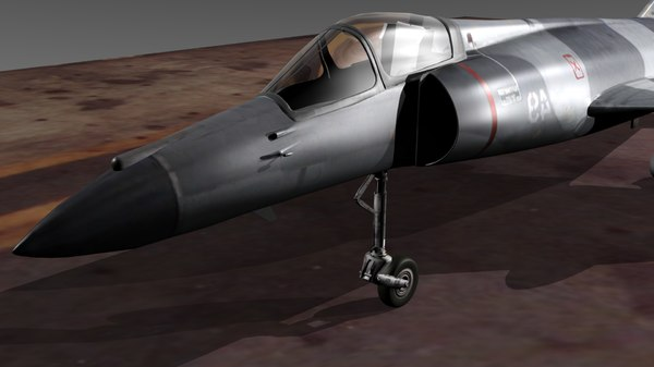 free french super etendard modernisé 3d model