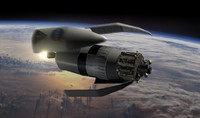 3d model cargo rocket ares 5