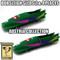 3d model bobsleigh sled - austria