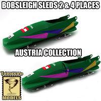 3d model bobsleigh sled - austria