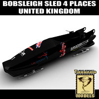 bobsleigh sled 4 places 3d xsi