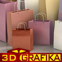gift bags 3d model