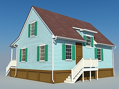 3dsmax design building house hot